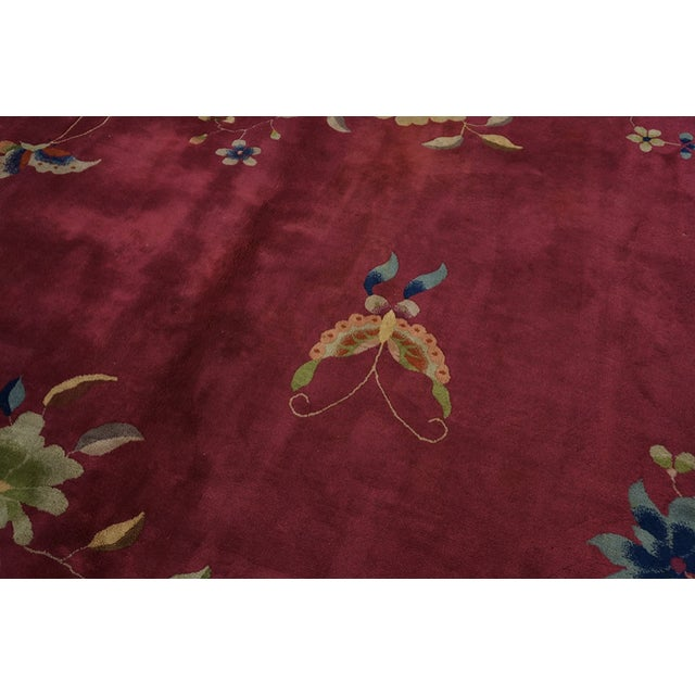 Antique Chinese Art Deco Rug For Sale In New York - Image 6 of 7