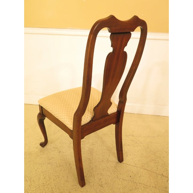 1990s Vintage Harden Furniture Cherry Wood Queen Anne Style Dining Room Chairs - Set of 6 For Sale - Image 11 of 13