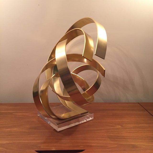 Abstract Dan Murphy Aluminum & Lucite Sculpture - Image 3 of 6