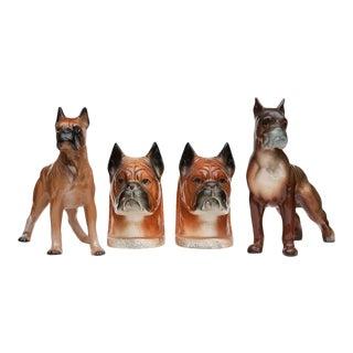 C. 1950s Boxer Dog Set - 4 Pieces For Sale
