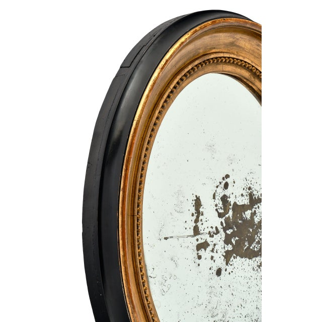 French Louis XVI Period French Oval Mirror For Sale - Image 3 of 10