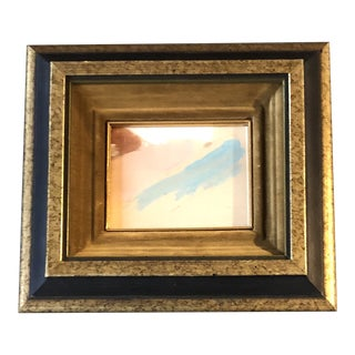 Original Vintage Miniature Abstract Painting Vintage Frame 1970's For Sale
