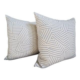 "Schumacher Deconstructed Stripe Double Sided 20"" Pillows, a Pair"