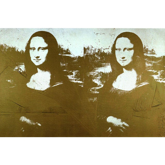 Andy Warhol-Two Golden Mona Lisas (sm)-1999 Poster - Image 1 of 3