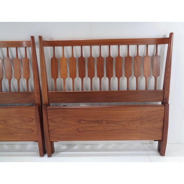 Mid-Century Modern Kipp Stewart for Drexel Declaration Twin Beds ~ a Rare Pair For Sale - Image 3 of 13