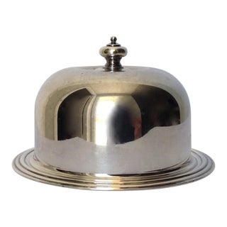 Silverplate Domed Lidded Butter Dish For Sale