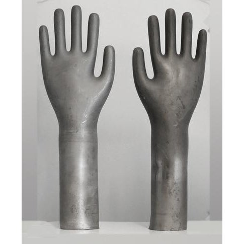 1960s Vintage Industrial Metal Glove Mold - Pair For Sale - Image 5 of 5