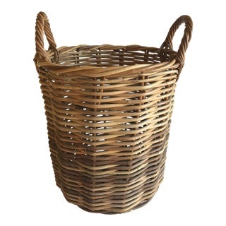 Vintage Rattan Basket For Sale
