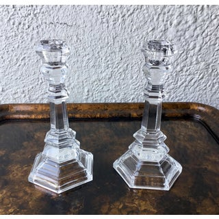 Tiffany & Co Crystal Candlesticks - a Pair Preview