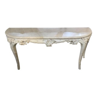 Art Nouveau Style Platt Antique White Console For Sale