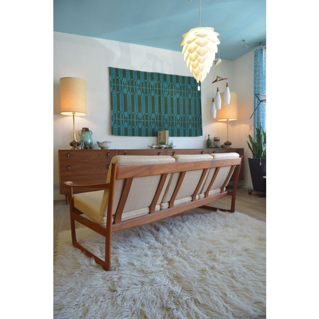 Danish Modern Sleigh Sofa by Peter Hvidt For Sale - Image 5 of 6