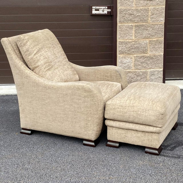 RJones Lounge Chair & Ottoman For Sale - Image 13 of 13