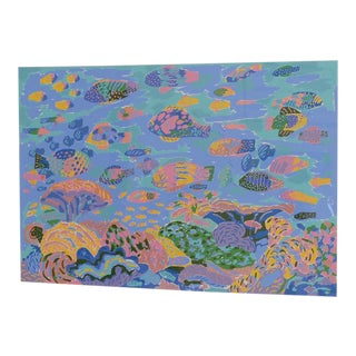 "Ken Done ""Tropical Fish"" Serigraph Signed / Numbered C.1990 For Sale"