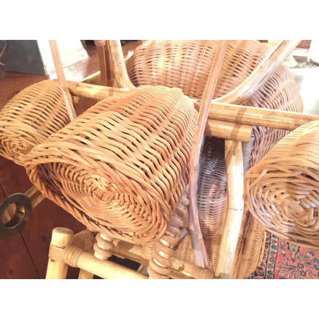 Tan 1960s Lifesize Woven Rattan Motorcycle For Sale - Image 8 of 9