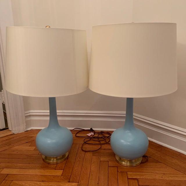 "Coy Large Table Lamp Designer: Christopher Spitzmiller Item # CS 3612MSB-PL Height: 35.75"" Width: 21"" Base: 7.5"" Round..."