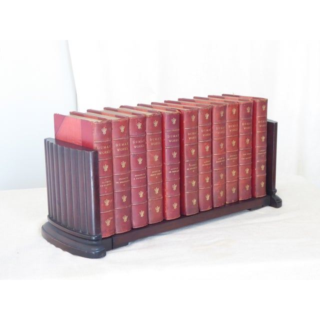 Vintage Traditional Mahogany Column Form Bookends For Sale - Image 4 of 5