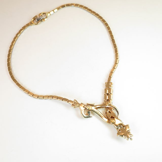 Metal Mid-Century Mazer Bros. Alexandrite Crystal Necklace Suite, 1940s For Sale - Image 7 of 11