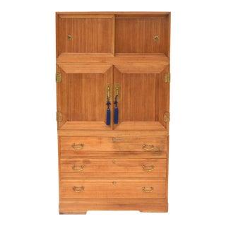 Antique Japanese Kimono Tansu 3 Piece Cabinet For Sale