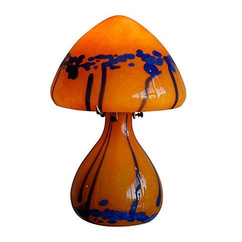 1970s French Handblown Glass Lamp - Image 1 of 3