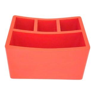 19070s Red Desk Organizer For Sale