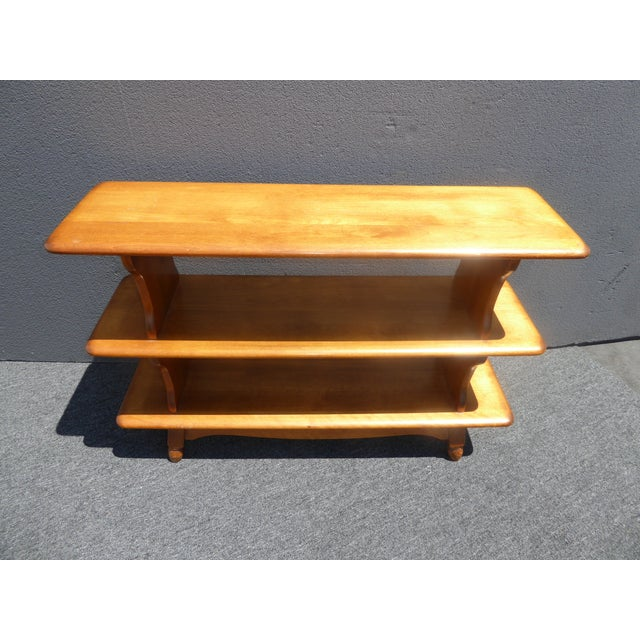 Vintage Mid-Century Modern 3 Tier Maple Bookcase For Sale - Image 5 of 11