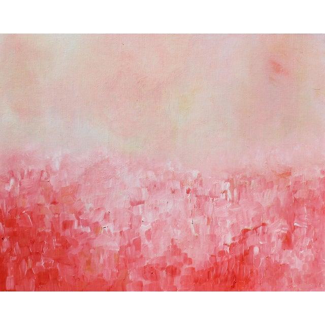 """Summer Garden"" Original Impasto Oil Painting - Image 3 of 3"