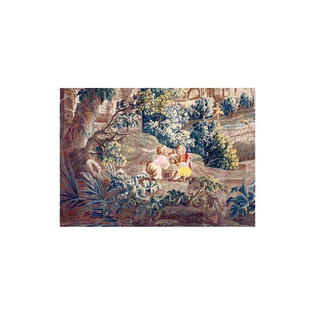 18th Century Antique Tapestry From Royal Manufacture of Aubusson - L'Oiseleur For Sale - Image 4 of 6