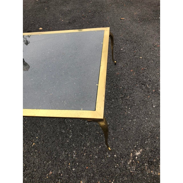 Mastercraft Hollywood Regency Brass & Glass Cocktail Table For Sale - Image 4 of 10