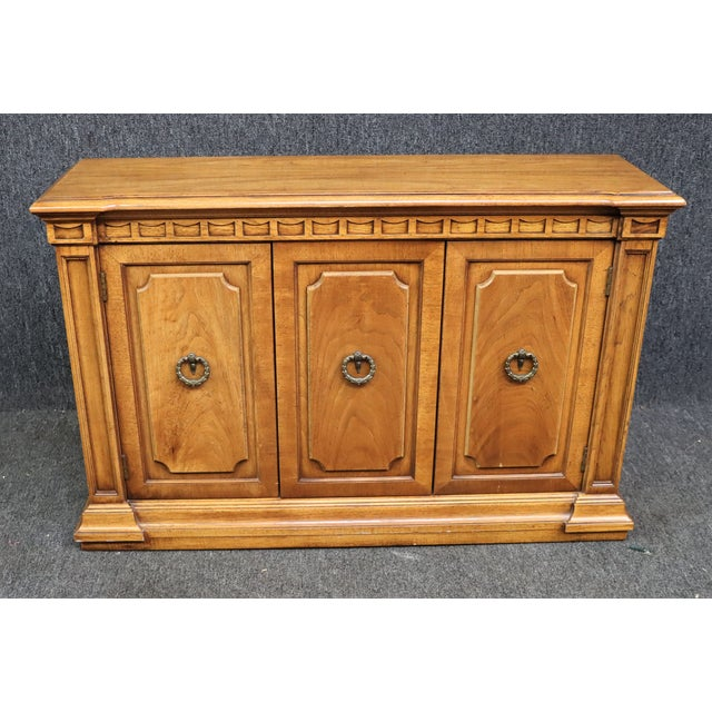 Italian Style Fruitwood Credenza For Sale - Image 9 of 9