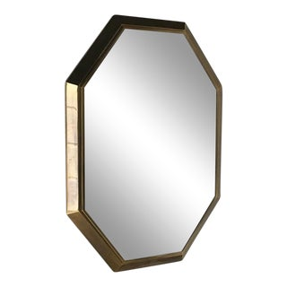 Mastercraft Designed Bronze Octagonal Framed Mirror 1980s For Sale
