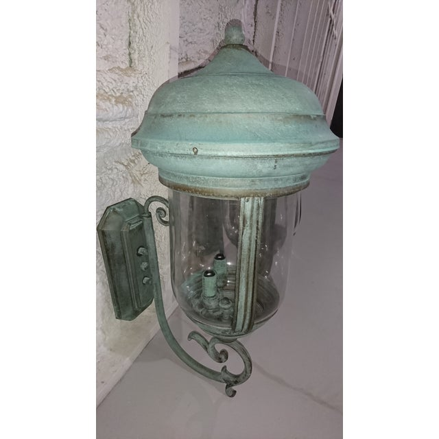Handcrafted French Country Wall Lantern - A Pair - Image 8 of 10