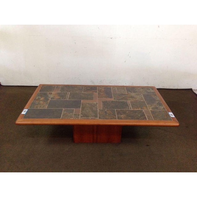 Mid-Century Carved Walnut Coffee Table - Image 2 of 5