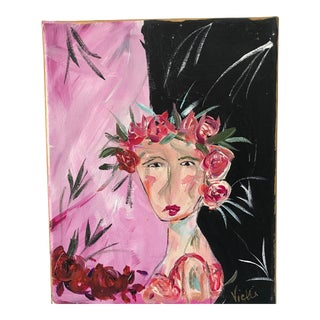 """""""She's Got the Look"""" Contemporary Painting For Sale"""