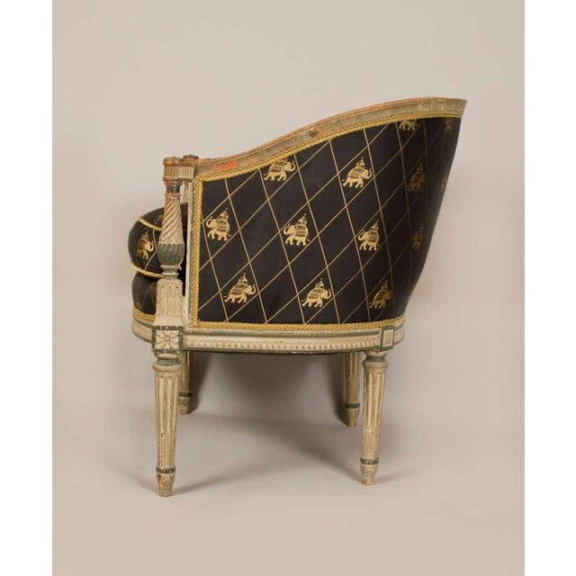 Late 18th-Early 19th Century Directoire Bergere Chair For Sale - Image 4 of 5