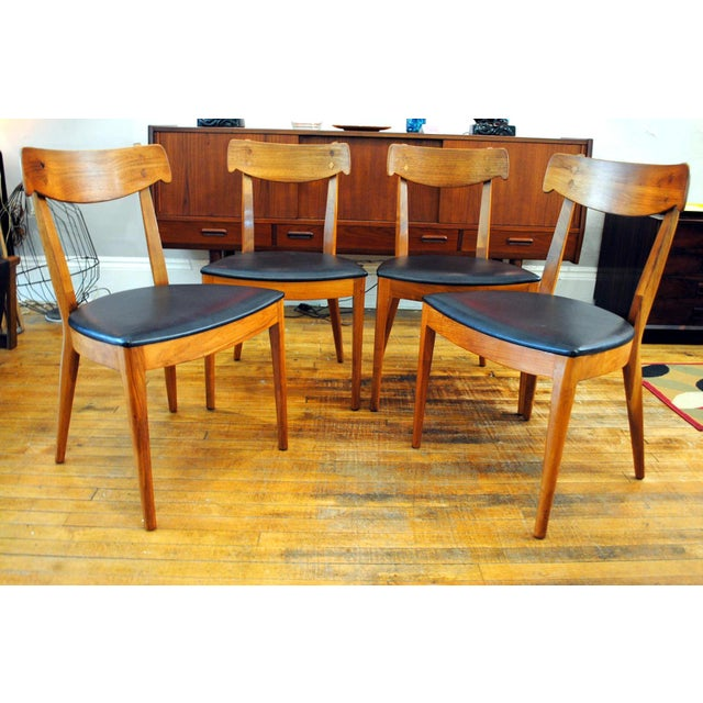 Brown Kipp Stewart for Drexel Declaration Mid-Century Dining Chairs - Set of 4 For Sale - Image 8 of 10