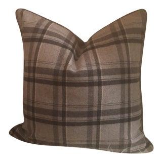 Ralph Lauren Heathland Plaid Smoke Pillow For Sale