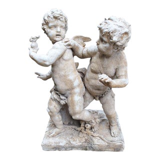 Cast Stone Cupids Statue from France (2 Available)