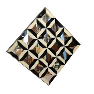 Optical Illusion Diamond Pop Art Mirror in the Style of Verner Panton For Sale