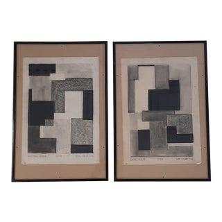 Non-Objective Shape Studies, a Pair For Sale