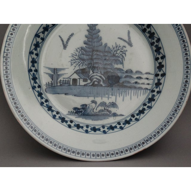 Mid-Century Modern 18th-C Delft Chinoiserie Charger For Sale - Image 3 of 7