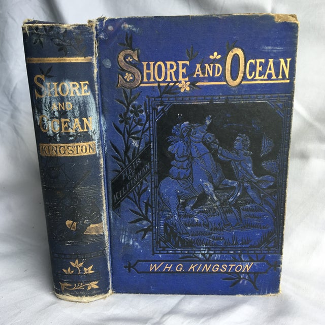 "1881 ""Shore and Ocean"" Blue Clothbound Hardcover Book For Sale - Image 13 of 13"