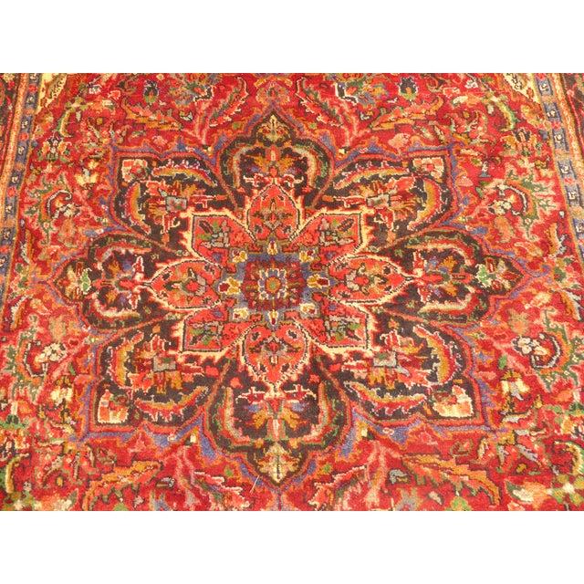Vintage Red Floral Design Persian Rug - 7′ × 9′ For Sale - Image 5 of 9