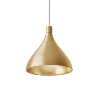 Pablo Designs Swell Brass Medium Pendant Light For Sale