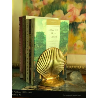 1950s Mid-Century Brass Shell Bookends - a Pair Preview