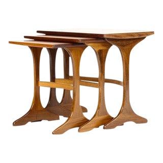 1960s Danish Modern G-Plan Teak Nesting Tables - Set of 3 For Sale