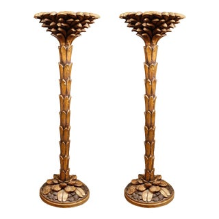 Pair of Palm Tree Columns in the Manner of Serge Roche For Sale