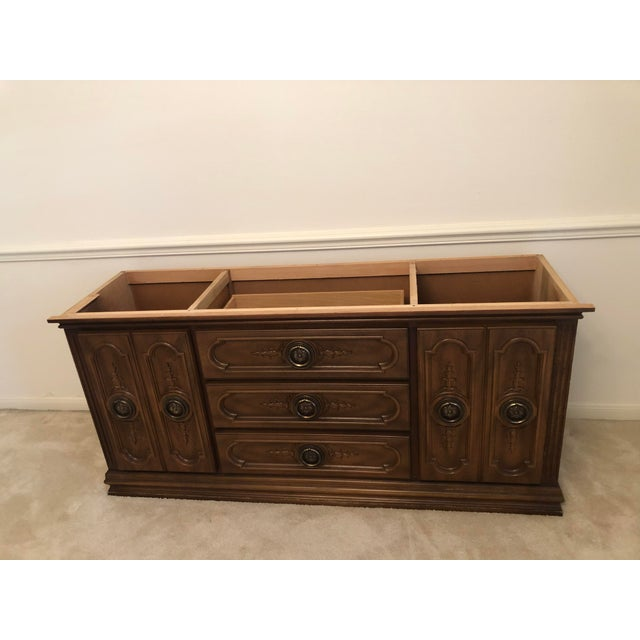 19th Century French Mahogany Style Cabinet Hutch For Sale - Image 4 of 13