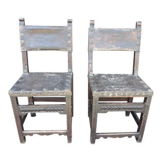 Late 18th Century Spanish Colonial Chairs- a Pair For Sale