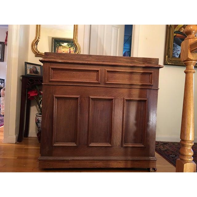 19th Century Victorian Walnut Davenport Desk For Sale - Image 4 of 8