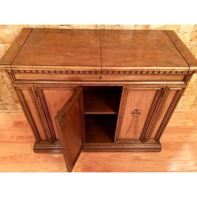 GORGEOUS, classic Baker Furniture Bar Cart! Looks brand new! Goes with dining table and chairs, also for sale. includes...